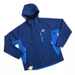 PATAGONIA WATERPROOF FULL ZIP JACKET HOODIE LARGE L MENS BLUE SNOW SKI RAIN for Sale in Los Angeles,  CA