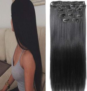 Black Silky Straight Full Head Clip in for Sale in Gardena, CA