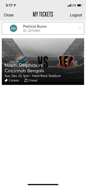 Miami Dolphins Vs Cincinnati Bengals tickets for Sale in Naples, FL