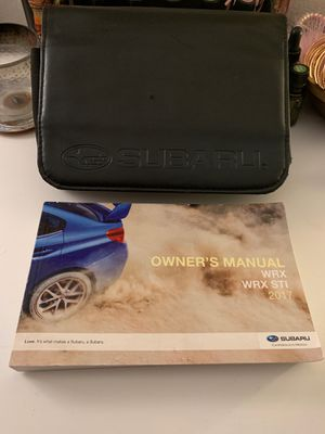 2017 Subaru WRX owners manual & leather cover for Sale in Los Angeles, CA