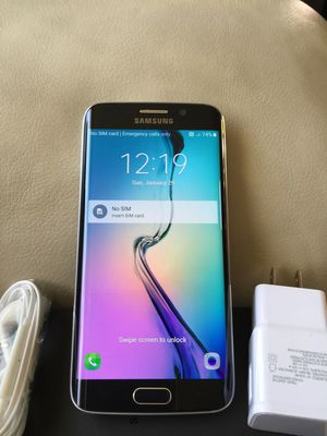 Samsung Galaxy S6 EDGE - just like new, factory unlocked, clean IMEI for Sale in Springfield, VA