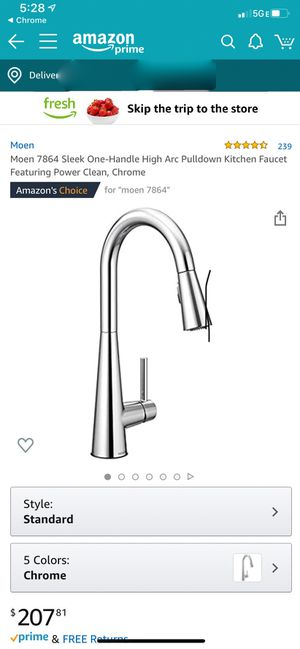 Moen kitchen faucet - sleek chrome / brand new in un-opened box for Sale in Streamwood, IL