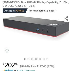 Lenovo USA ThinkPad Thunderbolt 3 Dock Gen 2 for Sale in San Diego, CA