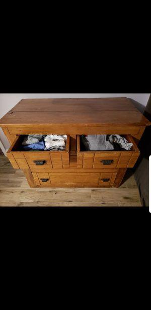 Antique solid oak dresser, 125 years old! for Sale in Seattle, WA