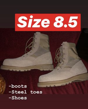Size 8.5 ( Boots / Shoes / Steel toes ) for Sale in Fallbrook, CA