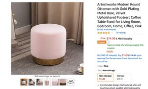 14 blush pink ottomans - great condition for Sale in Brooklyn, NY