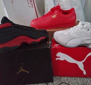 Air Jordan 13 asking 280 Red pumas 65...White puma SOLD for Sale in Southern View, IL