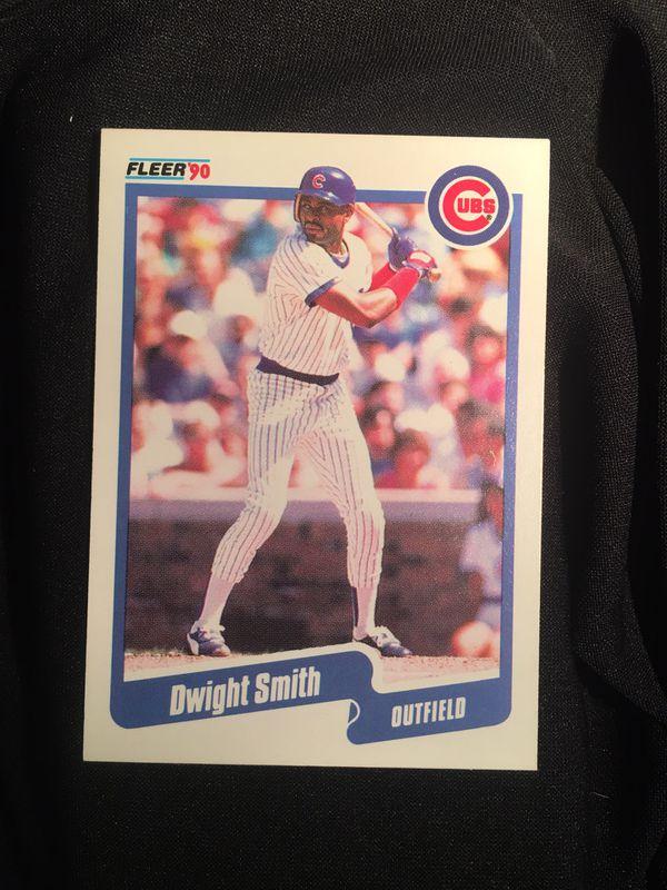 1990 Fleer #42 Dwight Smith Cubs Baseball Single Trading Card