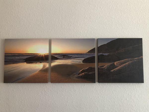 Beach Canvas Set of 3