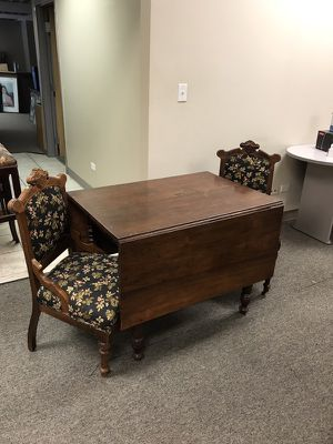 Antique table with 2 chairs for Sale in Denver, CO