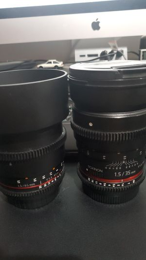 Rokinon cine lens for Canon for Sale in Duarte, CA