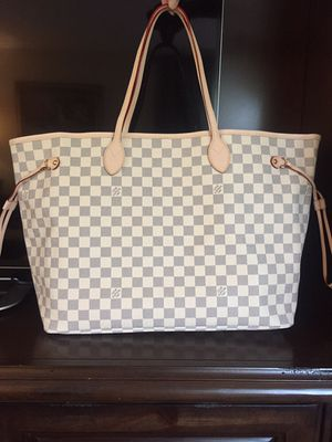 Louis Vuitton LV Damier Azur Neverfull GM Tote Bag Purse Handbag for Sale in Wheaton, IL