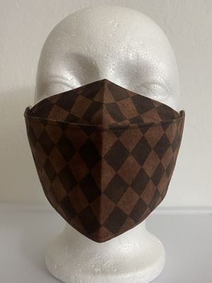 3D Face Mask Adults (Checkers Brown)-C35 for Sale in San Diego, CA
