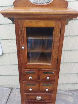 Vintage Oak Apothecary Inspired Cabinet With Drawers for Sale in Vallejo,  CA