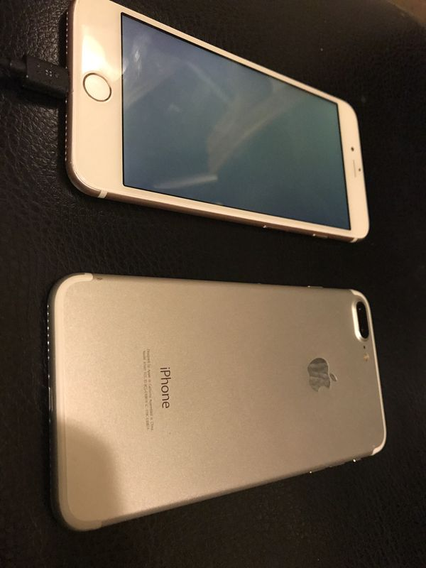 Two iPhone 7+ for PARTS NOT WORKING