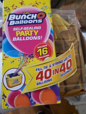 Bunch o balloons self sealing party balloons 16 ballons for Sale in Signal Hill, CA
