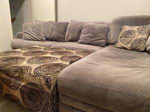 Couch + Ottoman for Sale in Dallas, TX