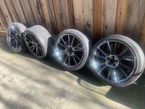 "20"" Niche Black Chrome Concave Rims w/tires for Sale in San Jose, CA"