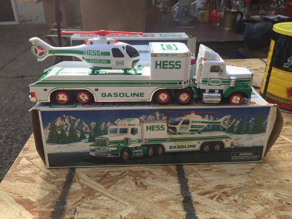 Hess helicopter transporter with copter