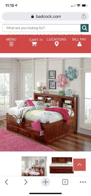 Twin bookshelf bed w/ twin mattress for Sale in Orange City, FL