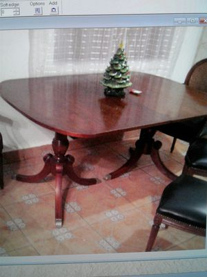 Vintage Mahogany Duncan Phyfe Dining Table W/2 Leaves. for Sale in Miami, FL