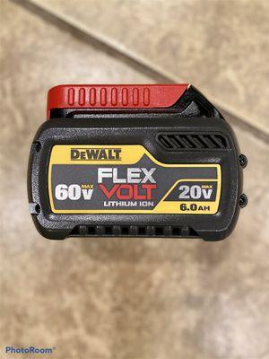Dewalt 20vMax/60vMax FLEXVOLT 6.0 battery for Sale in Azusa, CA