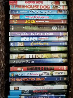 $1 DVD Movies, some for Kids/Children for Sale in Tulare,  CA
