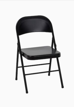Metal Folding Chair - Black for Sale in Charlotte, NC