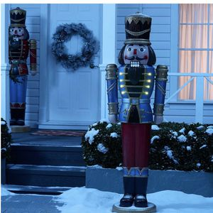 """Holiday Time Blue Nutcracker Light Up with Sound Indoor/Outdoor Christmas Decoration, 68"""". for Sale in Brooklyn, NY"""