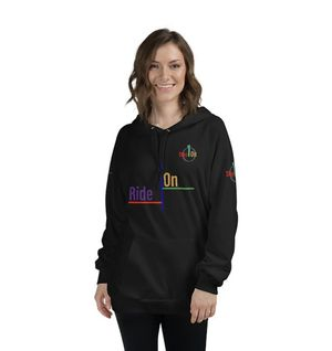 Stay On c1c-Ride On Unisex Fleece Hoodie for Sale in Alhambra, CA