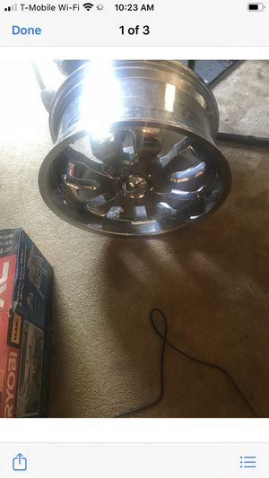 Brand new 22 inch rims eight lugs missing one Center cap have all four of them for $500 for Sale in Hampton, VA
