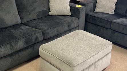 Dark Or Light Gray Sofa & Loveseat (Ottoman $200) for Sale in Columbus,  OH