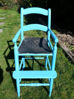 Shabby Chic Antique Baby Doll Child's Wood High Chair for Sale in Sumner, WA