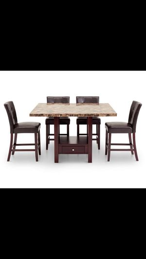 Marble Bar top dining room table with six chairs in great condition and in storage for two years best offer no low ballers for Sale in North Miami Beach, FL