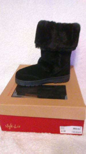 Faux Fur Suede Black Boots NEW for Sale in Tampa, FL