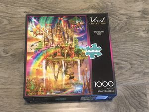 "NEW Buffalo Games Vivid Collection ""Rainbow City"" Jigsaw Puzzle: 1000 Pieces for Sale in Tacoma, WA"
