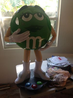 Ms. Green M & M Candy Character Display On Wheels Large Store Display for Sale for sale  Oakland Park, FL