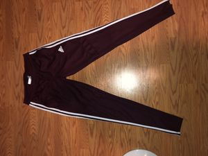 Adidas Track Pants Sweat pants, Red/Velvet color for Sale in Cleveland, OH