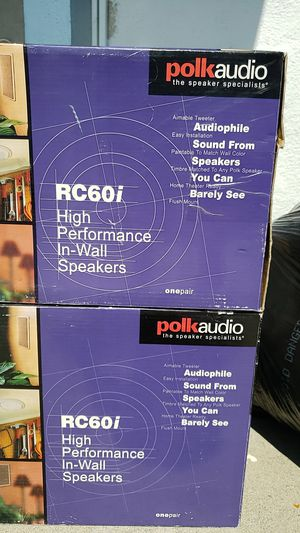 Polk audio RC60i in wall speakers for Sale in Industry, CA
