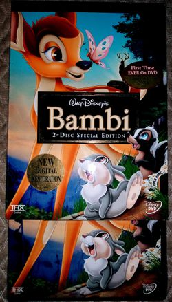 Brand New Sealed Walt Disney DVD Movie Bambi for Sale in Pinellas Park,  FL