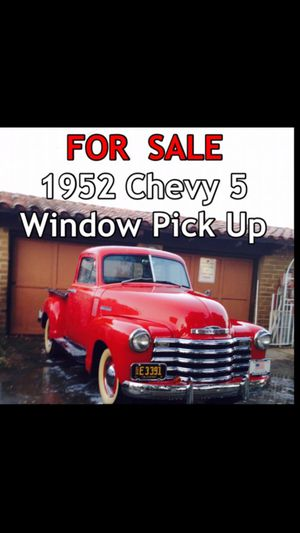 1952 Chevy 5 Window Pick Up. 235 engine , still on 6 Volt for Sale in Valley Center, CA
