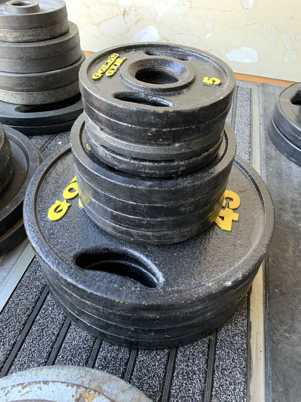 240lb Olympic weight set-golds gym