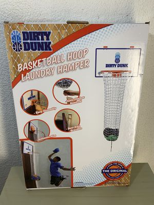 Dirty Dunk Original Over-the-Door Basketball Hoop Laundry Hamper NEW for Sale in Miami, FL