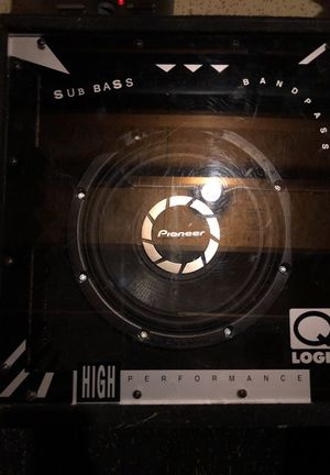 "12"" subwoofer with box Pioneer for Sale in Montgomery Village, MD"