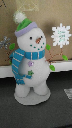 Holiday snowman (tabletop decor) for Sale in Tampa, FL
