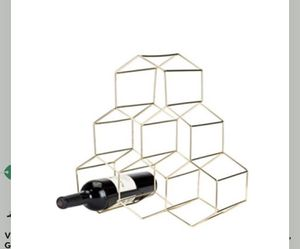 Viski 5213 Belmont Geo Rack Freestanding Wine Racks & Cabinets, One Size, Gold *NEW* for Sale in North Highlands, CA