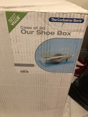 Case of Clear shoe boxes for Sale in Gambrills, MD