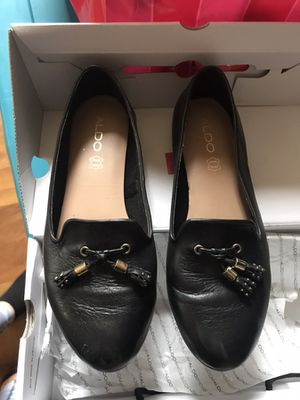 Black leather Aldo loafers size 7 for Sale in St. Louis, MO