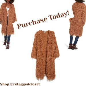 Shaggy Fur Cardigan/Coat for Sale in Temple Hills, MD