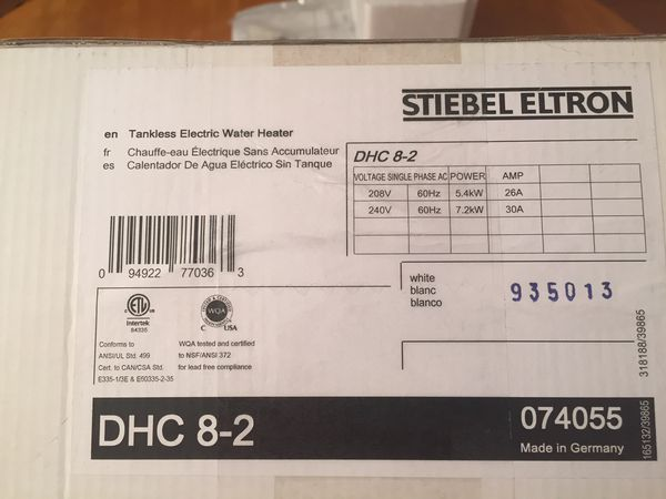 Tankless Water Heater - Electric, Brand New in Box!